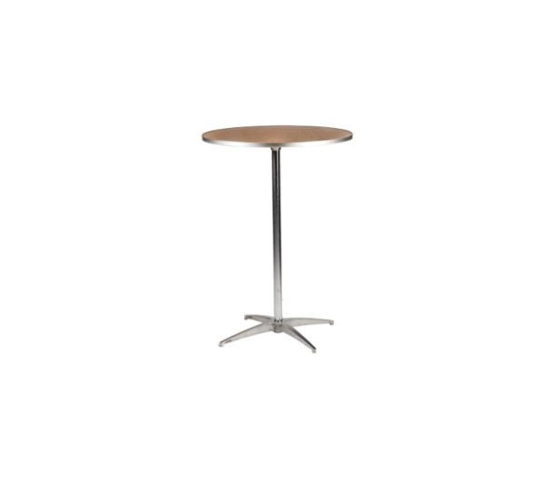 """30"""" Round Wooden High Top Table"""