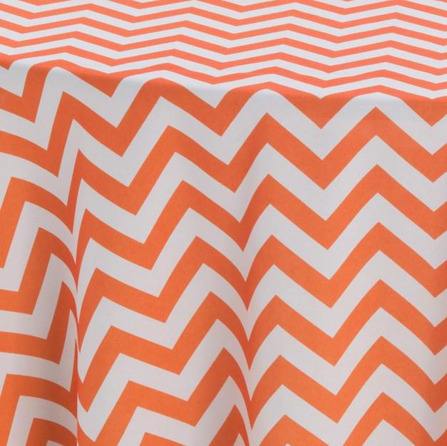 Orange Chevron Prints Overlay