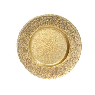 Filigree Glass Charger