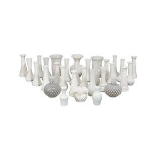 Small Milk Glass Vases