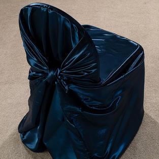 Navy Satin Pillow Case Cover