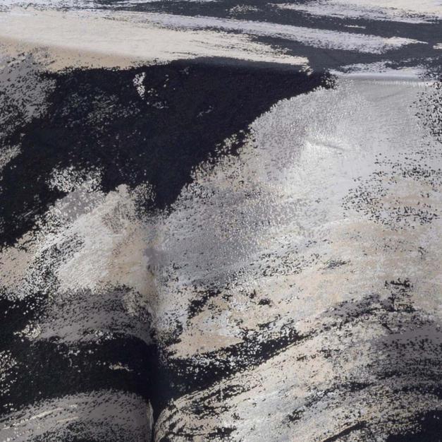 Watercolor Black Metallic