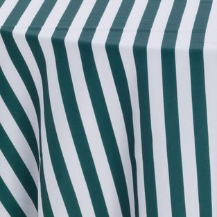 Green White 1 Inch Stripes