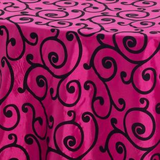 Hot Pink Scroll Taffeta