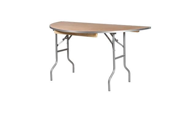 "72"" Half Round Table"