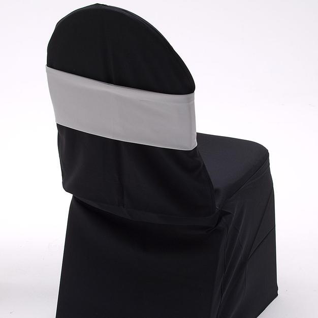 Silver Spandex Chair Band