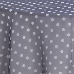 Black with White Polka Dots Sheer Overlay