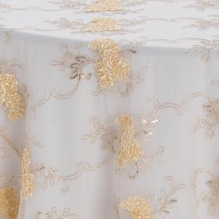 Champagne Vintage Veil Textured Sheer