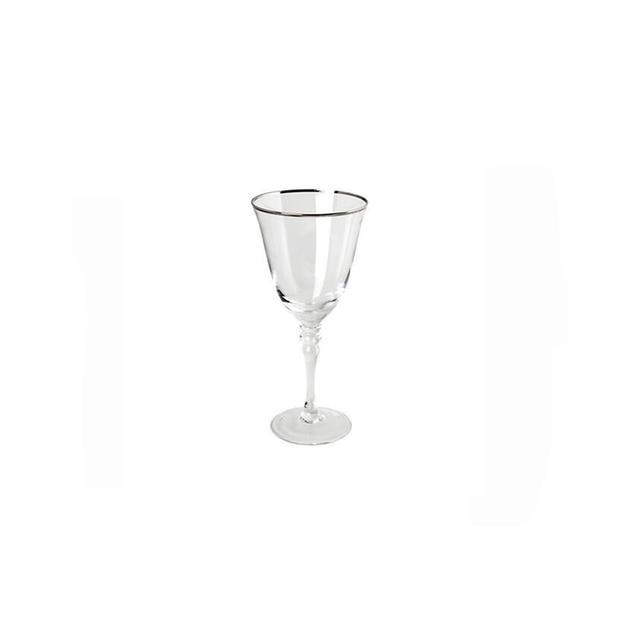 Silver Rim Stemware Red Wine