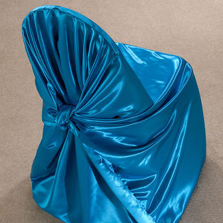 Pool Blue Satin Pillow Case Cover