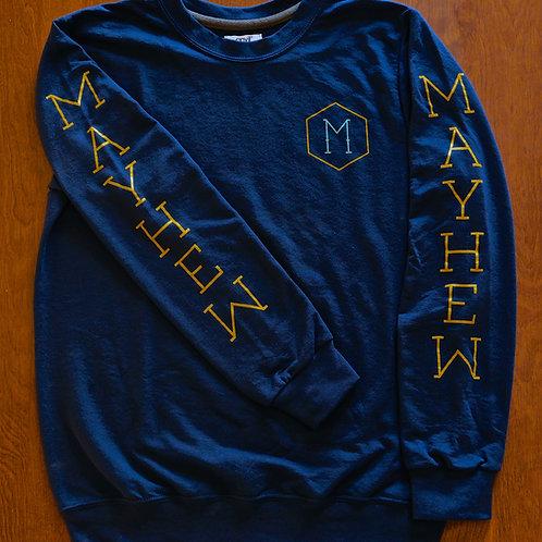 Crew Neck Long Sleeve Sweatshirt- Unisex