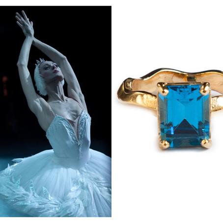11 anéis inspirados em protagonistas dos grandes repertórios de ballet.