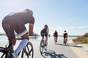 Group of Road Bikers getting bike fit