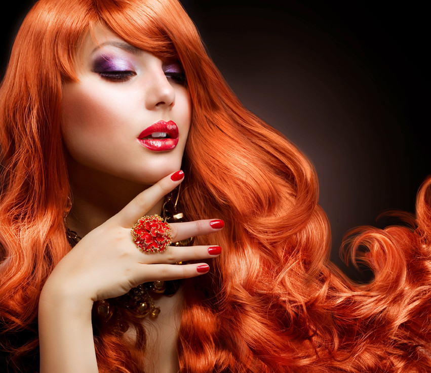 A Redhaired lady with healthy hair