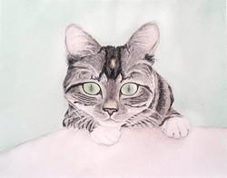 Mia in watercolor