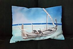 South Sea pillow, fine satin