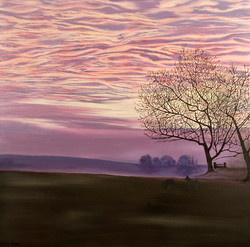 Farbspiel, Sunset in the Countryside