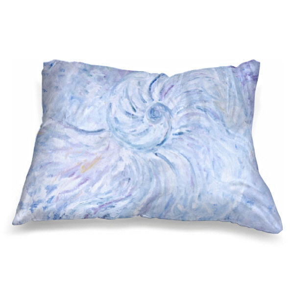Moonshell blue, 60 x 40 cm, 24 x 16