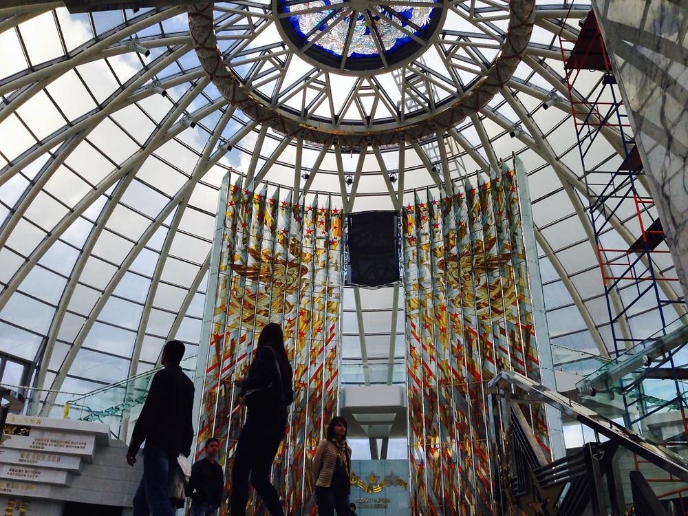 La cupola di vetro al termine del percorso a spirale del Museo