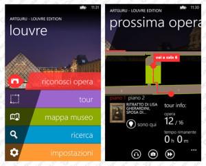 Un particolare dell'app Louvre Edition