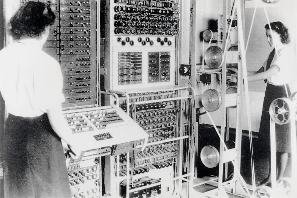 Il computer Colossus a Bletchley Park (fonte: Wikipedia)