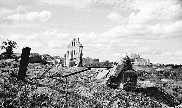 The ruins of Downtown Minsk