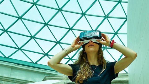 Virtual Reality al British Museum. Fonte: https://www.bbc.co.uk/news/technology-33772694