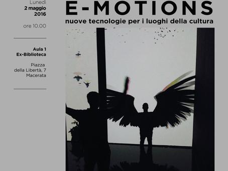 Conferenza E-Motions all'Accademia di Belle Arti di Macerata