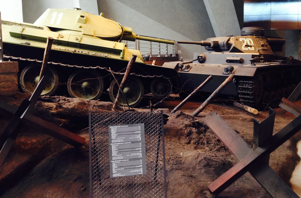 Un T34 russo e un Panther tedesco si affrontano