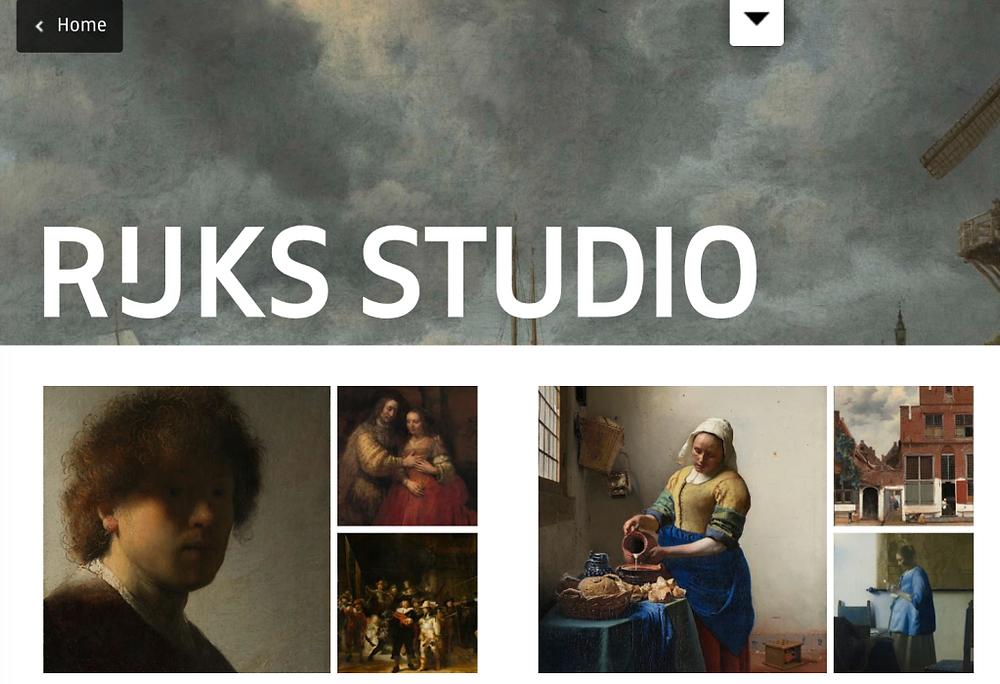 Home Page Rijks Studio.