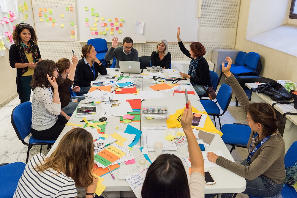 Working together on paper prototypes strengthens creativity and team bonds