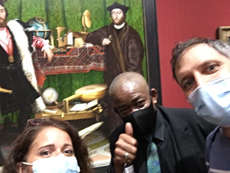 We just met the best museum guard ever. He works at the National Gallery.