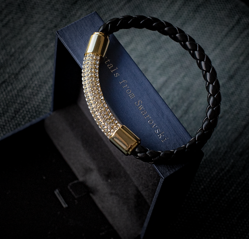 Magnetische armband 'Gold Leather'