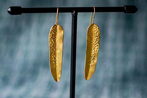 Oorbellen 'GOLDEN LEAF DROP'