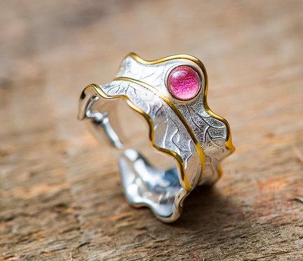 Ring 'PEONY LEAF'