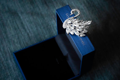 Broche 'Silver Swan'