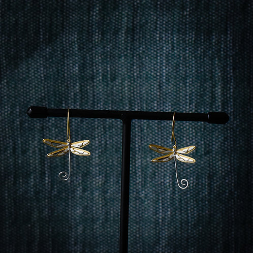 Oorbellen 'Cute Dragonfly'