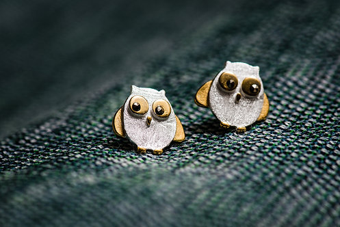 Oorbellen 'CUTE OWL'