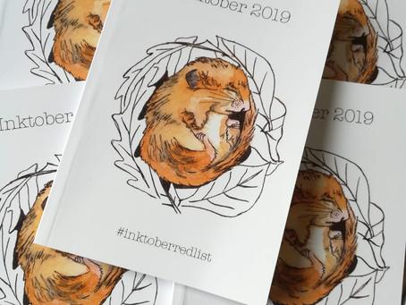 Inktober 2019 Book - #inktoberredlist