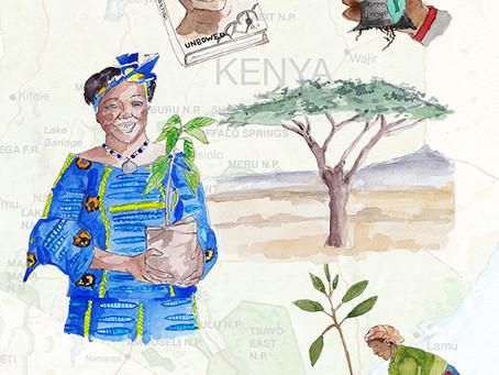 Book Illustrations Project: Wangari Maathai - Unbowed