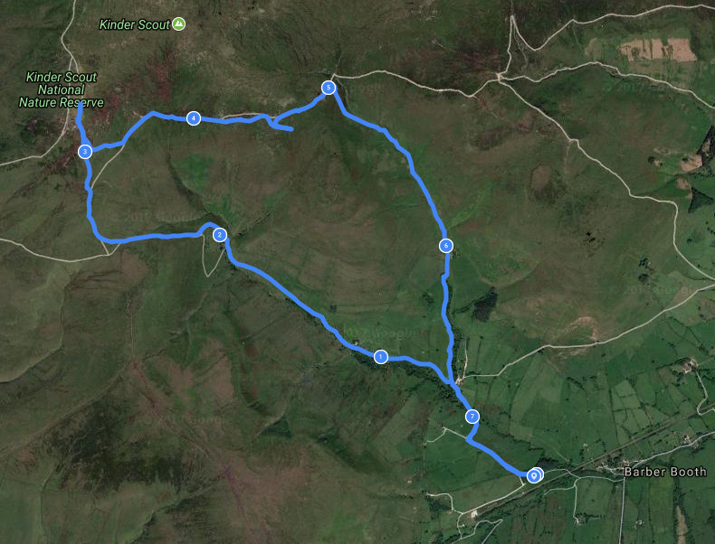 Kinder Scout route