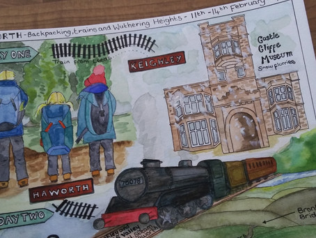 February Family Adventure – Backpacking, trains and Wuthering Heights