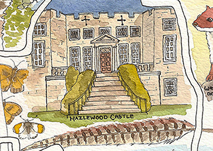 Hazlewood Castle close up