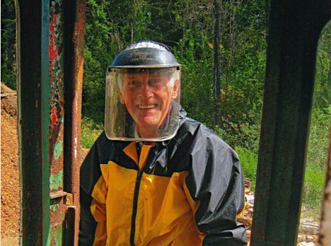 Paul McDougall who found the Tatoosh II in the Alberni City Yard