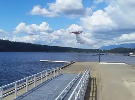 Waterbomber by the Pier