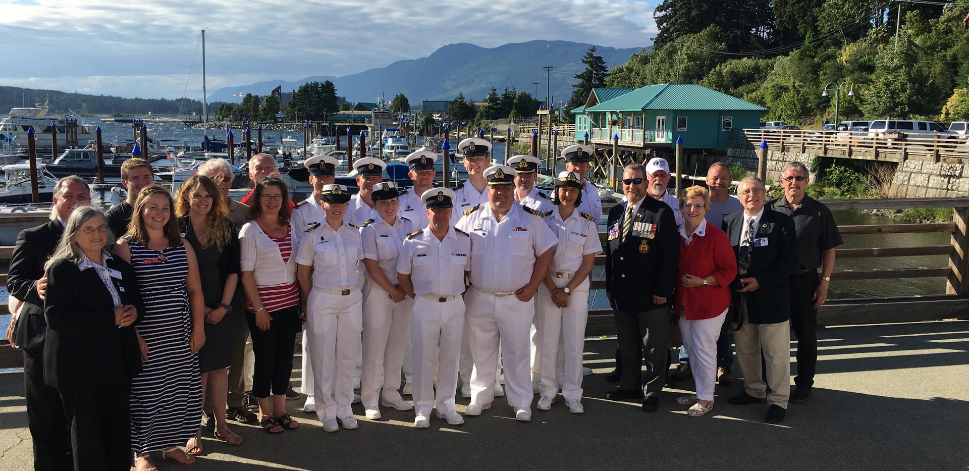 Navy Reception Group Photo