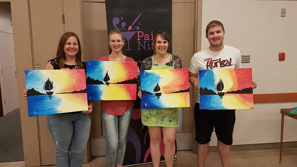 2017 Summer Staff and Their Paintings