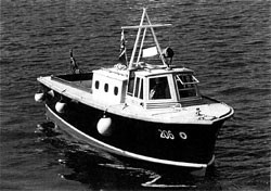 British Tender Boat designed by T.E Lawrence. This boat is what Canada's RCAF Crasher boat's design was based on.