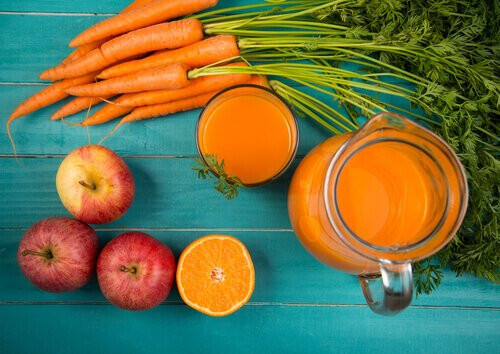 apple,carrot,orange juice, immune system juices,elate nutrtion