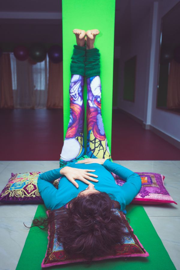 legs up the wall pose,insomnia yoga pose,elate wellbeing